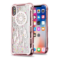 *Sale* Tuff Lite Quicksand Glitter Electroplating Transparent Case for iPhone X - Dreamcatcher