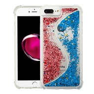 *Sale* Confetti Dual Chamber Quicksand Glitter Case for iPhone 8 Plus / 7 Plus / 6S Plus / 6 Plus - Rose Gold Blue