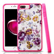 Tough Anti-Shock Hybrid Protection Case for iPhone 8 Plus / 7 Plus / 6S Plus / 6 Plus - Violet Flowers