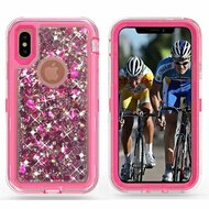 *Sale* TUFF Extreme Quicksand Glitter Hybrid Armor Case for iPhone X - Pink