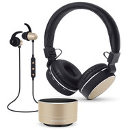 HyperGear Bluetooth Wireless Bundle Gift Set - Gold