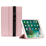 Smart Leather Hybrid Case with Translucent Back Cover and Apple Pencil Holder for iPad Pro 10.5 inch - Rose Gold