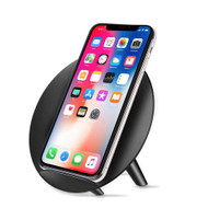 Qi Wireless Fast Charger Charging Stand - Black