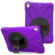 *SALE* 3-IN-1 Hybrid Armor Case with Hand Strap and Rotatable Stand for iPad Pro 10.5 inch - Purple