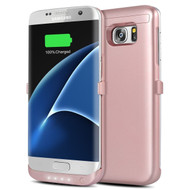 *Sale* Power Bank Battery Case with Kickstand 4000mAh for Samsung Galaxy S7 Edge - Rose Gold
