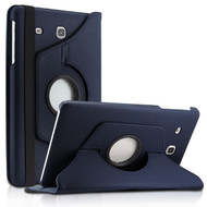 360 Degree Rotating Leather Hybrid Case for Samsung Galaxy Tab E 8.0 - Navy Blue