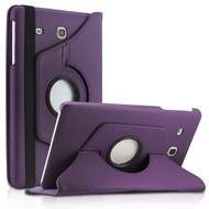 360 Degree Rotating Leather Hybrid Case for Samsung Galaxy Tab E 8.0 - Purple