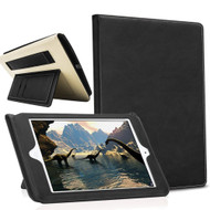 Workman Smart Leather Folio Case with Stand and Hand Strap for iPad (2017) / iPad Air / iPad Air 2 - Black