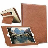 Workman Smart Leather Folio Case with Stand and Hand Strap for iPad (2017) / iPad Air / iPad Air 2 - Brown