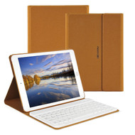 Slim Leather Folio Kickstand Case with Removable Bluetooth Wireless Keyboard for iPad Pro 9.7 inch - Brown
