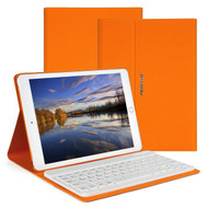 Slim Leather Folio Kickstand Case with Removable Bluetooth Wireless Keyboard for iPad Pro 9.7 inch - Orange