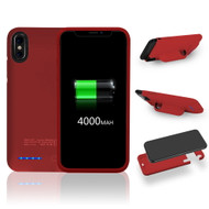 Smart Power Bank Battery Case 4000mAh for iPhone X - Red