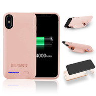 Smart Power Bank Battery Case 4000mAh for iPhone X - Rose Gold