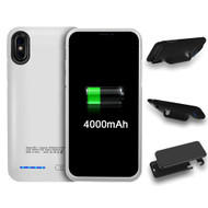 Smart Power Bank Battery Case 4000mAh for iPhone X - White