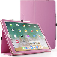 *Sale* Leather Portfolio Smart Case for iPad Pro 12.9 inch (1st and 2nd Generation) - Pink