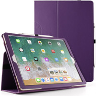 Leather Portfolio Smart Case for iPad Pro 12.9 inch (1st and 2nd Generation) - Purple