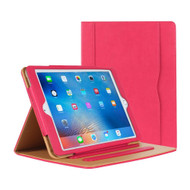 Slim Folding Smart Leather Folio Stand Case with Auto Wake / Sleep and Screen Protector for iPad Pro 9.7 inch - Hot Pink