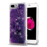 *Sale* Tuff Lite Quicksand Glitter Transparent Case for iPhone 8 Plus / 7 Plus / 6S Plus / 6 Plus - Purple