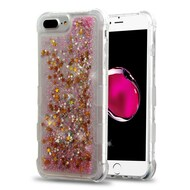 Tuff Lite Quicksand Glitter Transparent Case for iPhone 8 Plus / 7 Plus / 6S Plus / 6 Plus - Pink