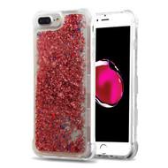 Tuff Lite Quicksand Glitter Transparent Case for iPhone 8 Plus / 7 Plus / 6S Plus / 6 Plus - Rose Gold