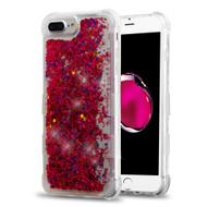*Sale* Tuff Lite Quicksand Glitter Transparent Case for iPhone 8 Plus / 7 Plus / 6S Plus / 6 Plus - Hot Pink