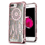 Tuff Lite Quicksand Glitter Electroplating Case for iPhone 8 Plus / 7 Plus / 6S Plus / 6 Plus - Dreamcatcher Rose Gold