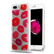 Tuff Lite Quicksand Glitter Transparent Case for iPhone 8 Plus / 7 Plus / 6S Plus / 6 Plus - Kisses