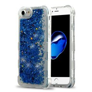 *Sale* Tuff Lite Quicksand Glitter Transparent Case for iPhone 8 / 7 / 6S / 6 - Blue