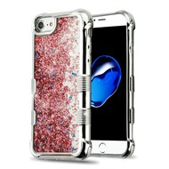 *Sale* Tuff Lite Quicksand Glitter Electroplating Transparent Case for iPhone 8 / 7 / 6S / 6 - Rose Gold
