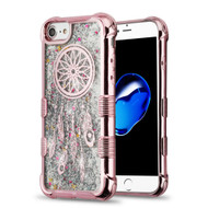 Tuff Lite Quicksand Glitter Electroplating Transparent Case for iPhone 8 / 7 / 6S / 6 - Dreamcatcher Rose Gold