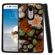 *Sale* Tough Anti-Shock Triple Layer Hybrid Case for LG Aristo / Fortune / K8 (2017) / Phoenix 3 - Lucky Flower