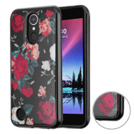 Air Cushion Shockproof Crystal TPU Case for LG K20 Plus / K20 V / K10 (2017) / Harmony - Red and White Roses
