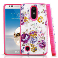 *Sale* Tough Anti-Shock Hybrid Protection Case for LG Aristo / Fortune / K8 (2017) / Phoenix 3 - Violet Flowers