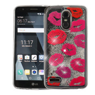 Quicksand Glitter Transparent Case for LG Stylo 3 / Stylo 3 Plus - Kisses