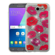 Quicksand Glitter Case for Samsung Galaxy J3 (2017) / J3 Emerge / J3 Prime / Amp Prime 2 / Sol 2 - Kisses