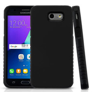 Tough Anti-Shock Hybrid Protection Case for Samsung Galaxy J3 (2017) / J3 Emerge / J3 Prime / Amp Prime 2 - Black