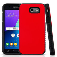 Tough Anti-Shock Hybrid Protection Case for Samsung Galaxy J3 (2017) / J3 Emerge / J3 Prime / Amp Prime 2 / Sol 2 - Red