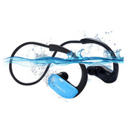 IPX8 Waterproof Bluetooth V4.1 Wireless Sport Headphones - Blue Black