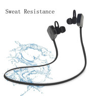 Shockwave Bluetooth V4.1 Wireless Sweatproof Headphones with Noise Cancelling Microphone - Black