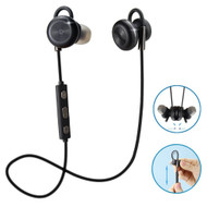 Magnetic Absorbing Bluetooth V4.1 Wireless IPX4 Waterproof Headphones - Black