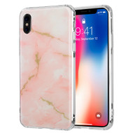 Marble IMD Soft TPU Glitter Case for iPhone X - Rose Gold