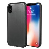 Satin Design Soft TPU Case for iPhone X - Black