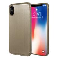 Satin Design Soft TPU Case for iPhone X - Gold