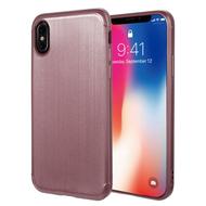 Satin Design Soft TPU Case for iPhone X - Rose Gold
