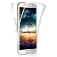 Anti-Scratch 360 Front and Back Full Body Protection Transparent TPU Case for Samsung Galaxy J7 (2017) / J7 V / J7 Perx