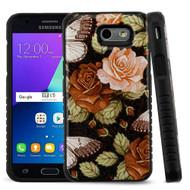 Tough Triple Layer Hybrid Case for Samsung Galaxy J3 (2017) / J3 Emerge / J3 Prime / Amp Prime 2 - Lucky Flower
