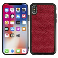 *Sale* Two-Tone Sparkle Sequins Case for iPhone X - Red