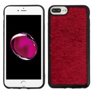 Two-Tone Sparkle Sequins Case for iPhone 8 Plus / 7 Plus / 6S Plus / 6 Plus - Red