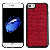 *Sale* Two-Tone Sparkle Sequins Case for iPhone 8 / 7 / 6S / 6 - Red