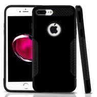 *Sale* Hybrid Armor Case with Carbon Fiber Accents for iPhone 8 Plus / 7 Plus - Black